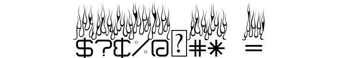 Up In Flames Font OTHER CHARS