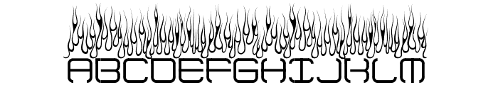 Up In Flames Font UPPERCASE