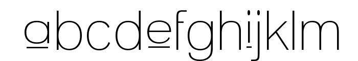 Upper Lane Light Font LOWERCASE