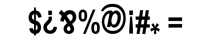 Upside Down Sans Serif Narrow Bold Font OTHER CHARS