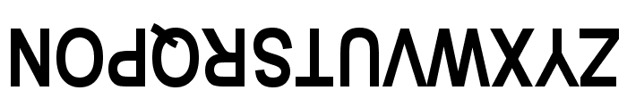 Upside Down Sans Serif Narrow Bold Font UPPERCASE