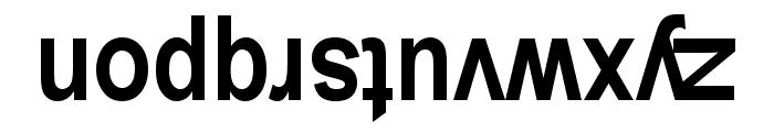 Upside Down Sans Serif Narrow Bold Font LOWERCASE
