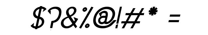 UptownElegance-BoldItalic Font OTHER CHARS