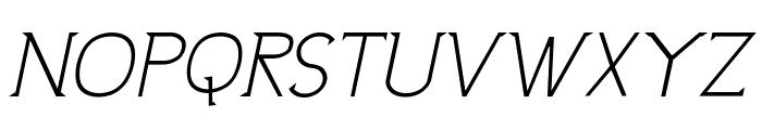 UptownElegance-Italic Font UPPERCASE