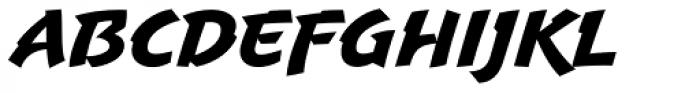 Uppercut Angle Font LOWERCASE