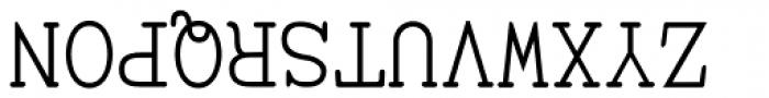 UpsidedownTOC Font UPPERCASE