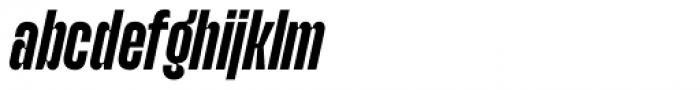 Upton Bold Italic Font LOWERCASE