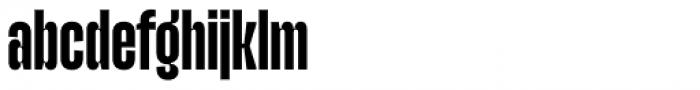 Upton Bold Font LOWERCASE