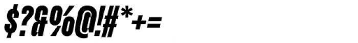 Upton Extra Bold Italic Font OTHER CHARS