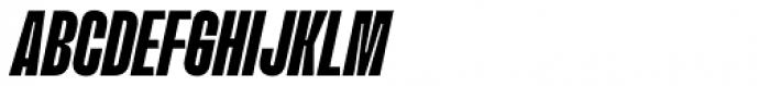 Upton Extra Bold Italic Font UPPERCASE