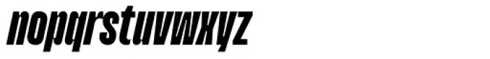Upton Extra Bold Italic Font LOWERCASE