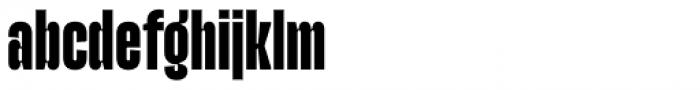 Upton Extra Bold Font LOWERCASE