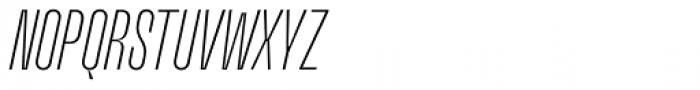 Upton Extra Light Italic Font UPPERCASE