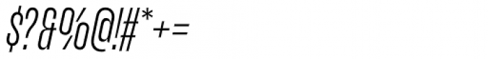 Upton Light Italic Font OTHER CHARS