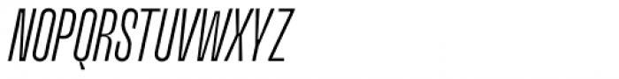 Upton Light Italic Font UPPERCASE