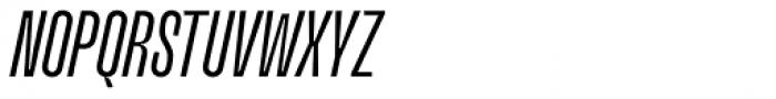 Upton Normal Italic Font UPPERCASE
