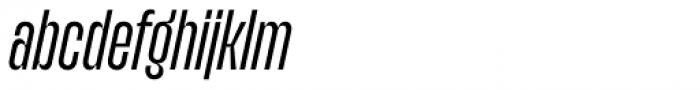 Upton Normal Italic Font LOWERCASE