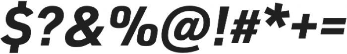 URW DIN Bold Italic otf (700) Font OTHER CHARS