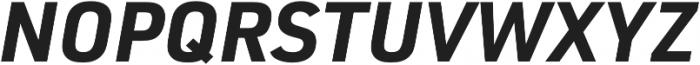 URW DIN Bold Italic otf (700) Font UPPERCASE