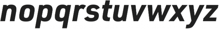 URW DIN Bold Italic otf (700) Font LOWERCASE