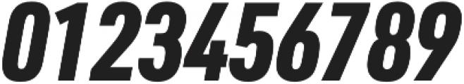 URW DIN Cond Black Italic otf (900) Font OTHER CHARS