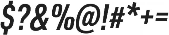 URW DIN Cond Demi Italic otf (400) Font OTHER CHARS