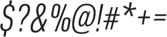 URW DIN Cond Light Italic otf (300) Font OTHER CHARS