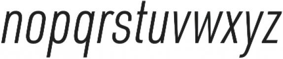 URW DIN Cond Light Italic otf (300) Font LOWERCASE