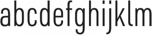 URW DIN Cond Light otf (300) Font LOWERCASE