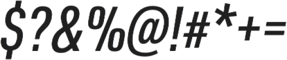 URW DIN Cond Medium Italic otf (500) Font OTHER CHARS