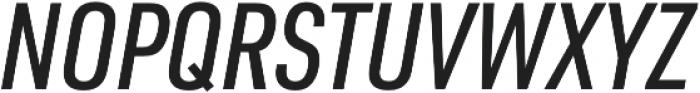 URW DIN Cond Medium Italic otf (500) Font UPPERCASE