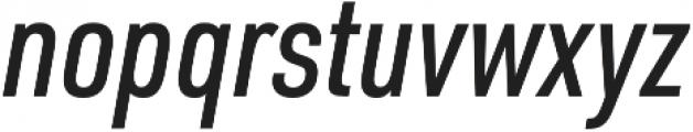 URW DIN Cond Medium Italic otf (500) Font LOWERCASE