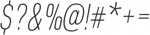 URW DIN Cond Thin Italic otf (100) Font OTHER CHARS