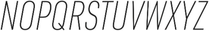 URW DIN Cond Thin Italic otf (100) Font UPPERCASE