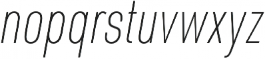 URW DIN Cond Thin Italic otf (100) Font LOWERCASE