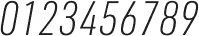 URW DIN Cond XLight Italic otf (300) Font OTHER CHARS
