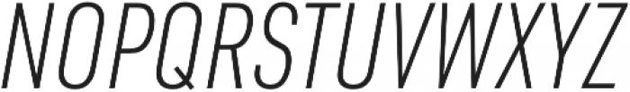 URW DIN Cond XLight Italic otf (300) Font UPPERCASE