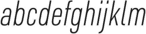 URW DIN Cond XLight Italic otf (300) Font LOWERCASE