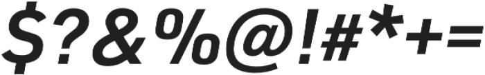 URW DIN Demi Italic otf (400) Font OTHER CHARS