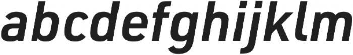 URW DIN Demi Italic otf (400) Font LOWERCASE