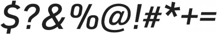 URW DIN Medium Italic otf (500) Font OTHER CHARS