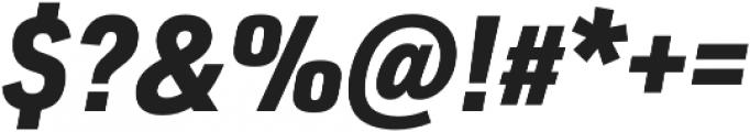 URW DIN SemiCond Black Italic otf (900) Font OTHER CHARS