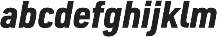 URW DIN SemiCond Black Italic otf (900) Font LOWERCASE