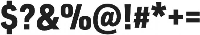 URW DIN SemiCond Black otf (900) Font OTHER CHARS