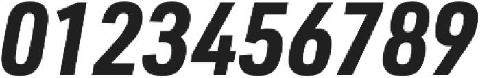 URW DIN SemiCond Bold Italic otf (700) Font OTHER CHARS