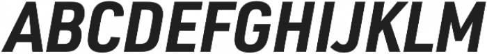 URW DIN SemiCond Bold Italic otf (700) Font UPPERCASE