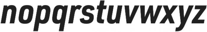 URW DIN SemiCond Bold Italic otf (700) Font LOWERCASE