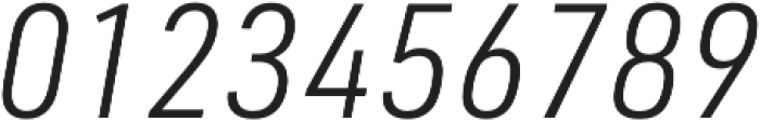 URW DIN SemiCond Light Italic otf (300) Font OTHER CHARS