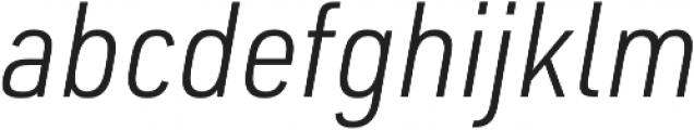 URW DIN SemiCond Light Italic otf (300) Font LOWERCASE