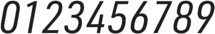 URW DIN SemiCond Regular Italic otf (400) Font OTHER CHARS